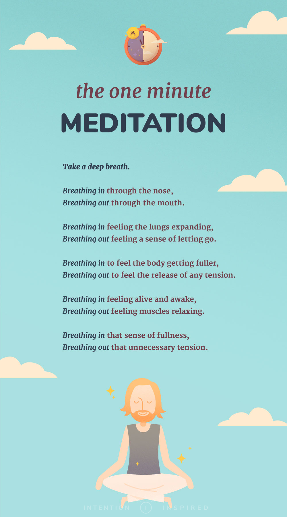 Don't have 20 minutes? That's okay, this meditation only takes 60 seconds!