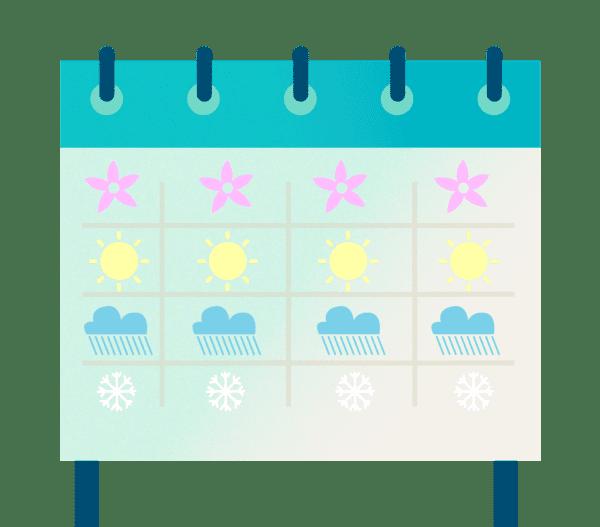 2018 Calendar of New Habits