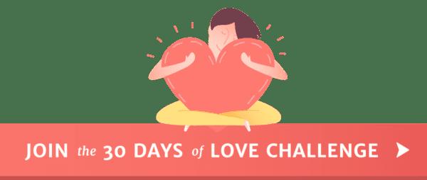 30 Days of Love Heart Hug Button