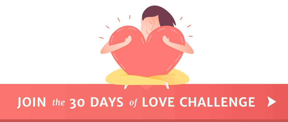 30 Days of Love Heart Hug Button
