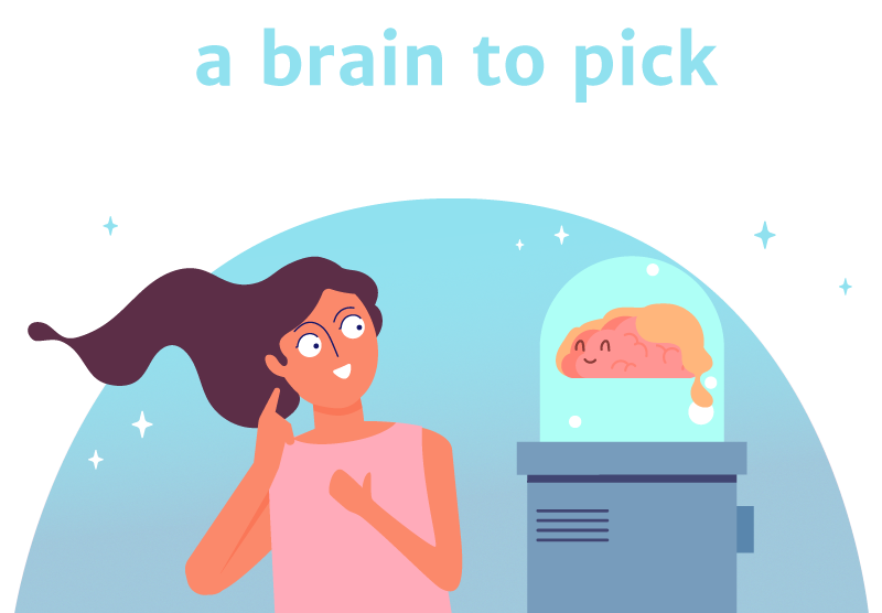 a brain to pick