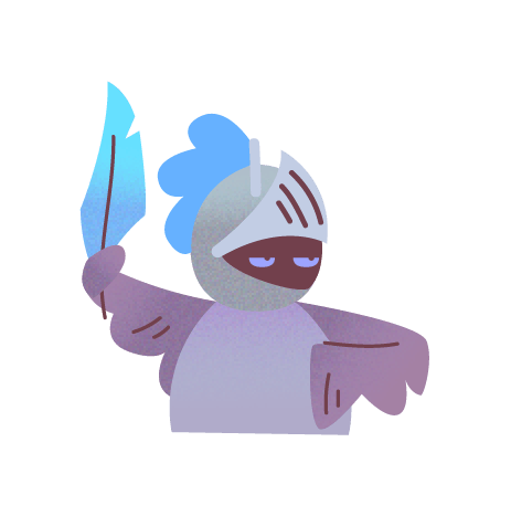 Inner heroic shy bird