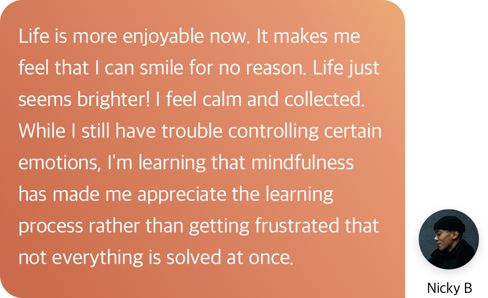 mindfulness testimonial