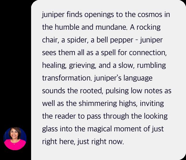 rainbow juniper testimonial