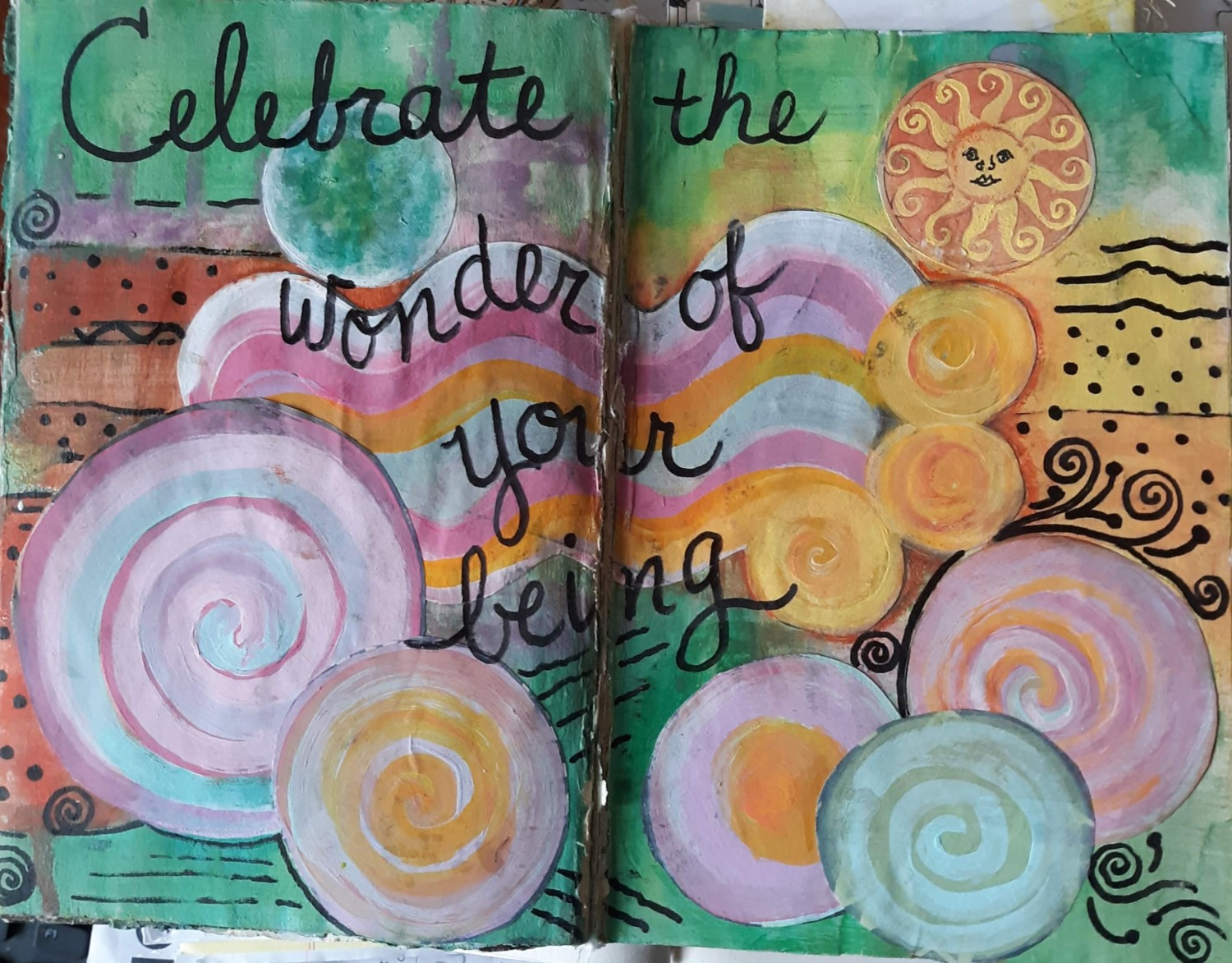 creative journal - celebrate the wonder of your being