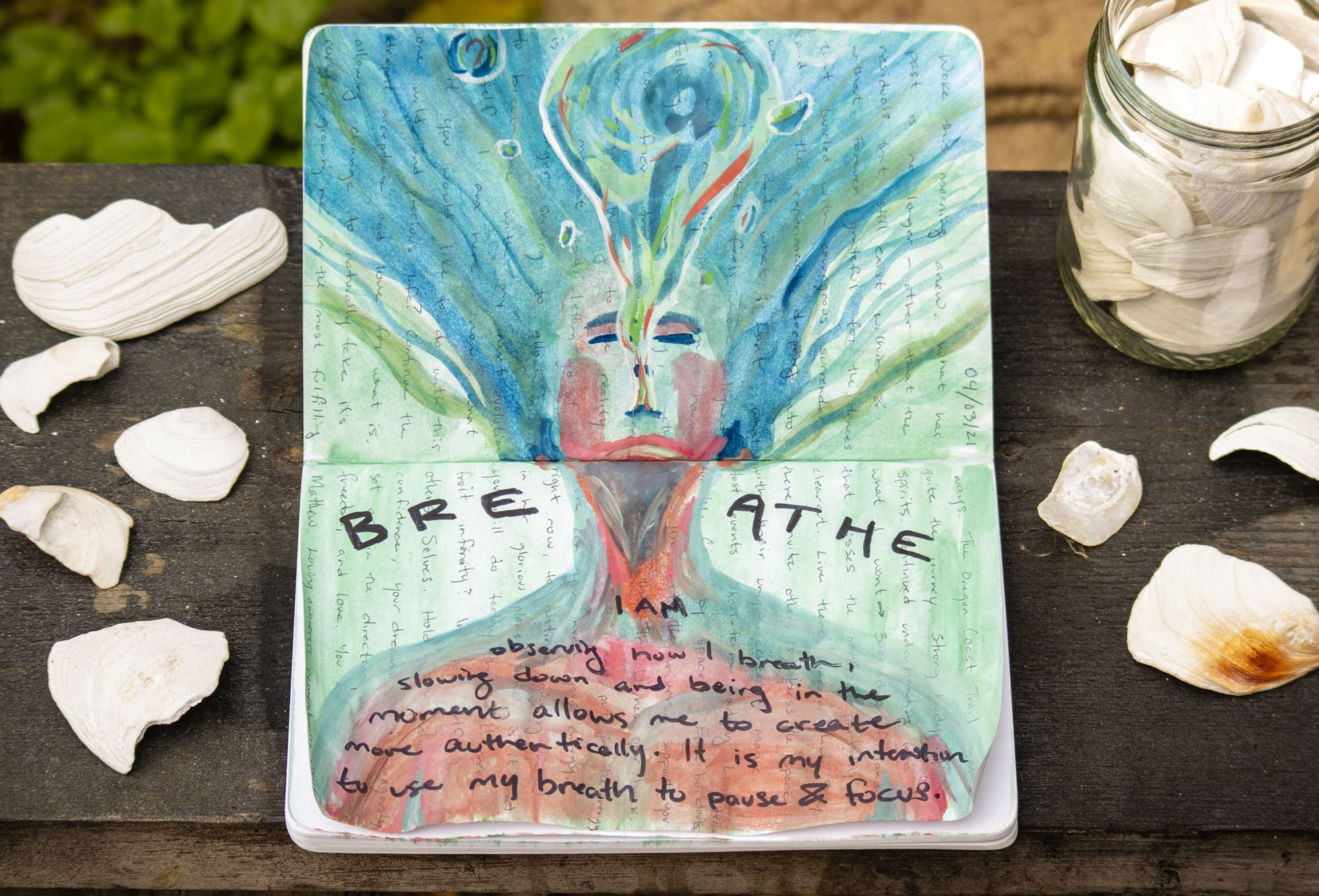 morning pages creative journal breathe