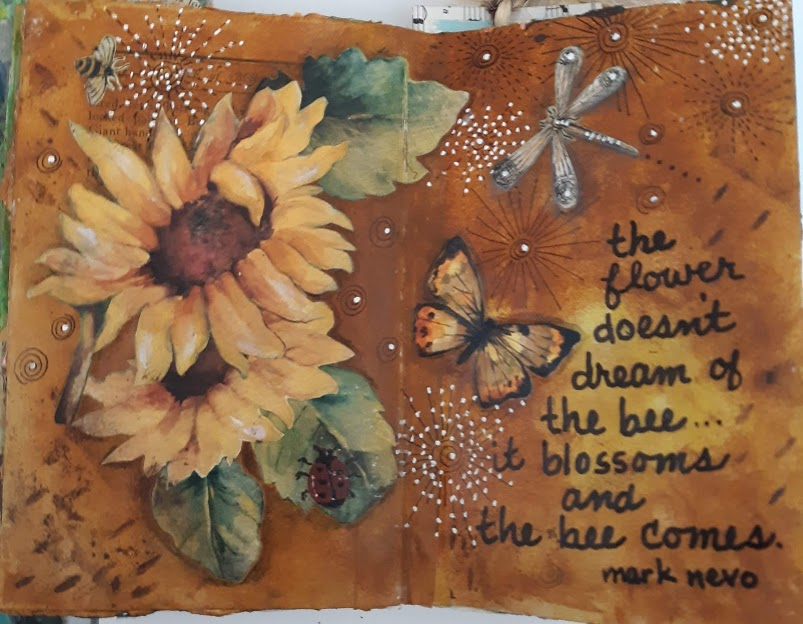 """Creative journal - The flower doesn't dream of the bee. It blossoms and the bee comes."""""""
